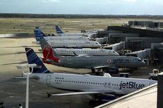 Jet Blue livery.