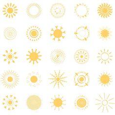 25 yellow sun symbols by TatianaKuzmina on Sun Tattoo Small, Small Tattoos, Hand Tattoos, Tatoos, Yellow Tattoo, Tattoo Sonne, Sun Drawing, Light Tattoo, Sun Logo