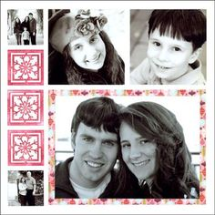 Handmade photo card on Mosaic Moments 6x6 grid paper