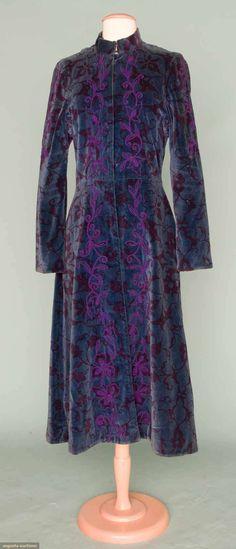 Thea Porter Velvet Coat, Early 1970s, Augusta Auctions, November 14, 2012 NEW YORK CITY, Lot 354