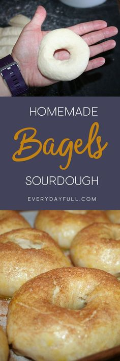 SOURDOUGH BAGEL RECIPE - Just when you thought bagels would. SOURDOUGH BAGEL RECIPE - Just when you thought bagels would never be on the menu again weve got a sourdough recipe thats easy and delicious yet friendly to your gut. Bread Recipes, Real Food Recipes, Cooking Recipes, Sourdough Recipes Starter, Speggetti Recipes, Starter Recipes, Kitchen Recipes, Easy Cooking, Sourdough Bagels