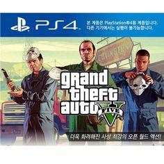 PS4 GTA5 KOREAN VER. Grand Theft Auto Five Rockstar Games Brand New Sealed