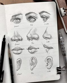 Art Drawings Sketches Simple, Pencil Art Drawings, Realistic Drawings, Drawing Ideas, Drawing Guide, How To Sketch Faces, How To Sketch People, People To Draw, Pencil Sketches Of Faces