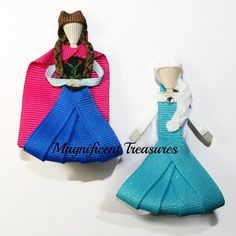 Frozen Anna and Elsa Hair Clips