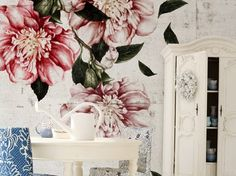 Wallpaper with floral pattern CASCADE Life! 12 Collection by Wall