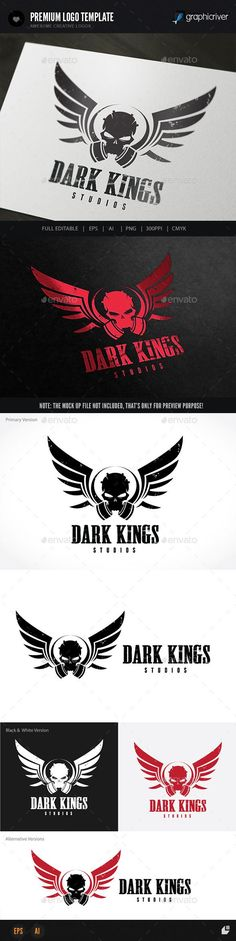 Dark Kings — Vector EPS #angel #gone • Available here → https://graphicriver.net/item/dark-kings/8948738?ref=pxcr