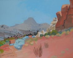 Capitol Reef 5 by Shelley Hull - Abstracted landscape painting of a scene in Capitol Reef National Park in Utah. Capitol Reef National Park, National Parks, Abstract Landscape, Landscape Paintings, Landscapes, Utah Parks, Painting Competition, Park Art, Tapestry