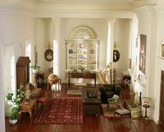 Victorian sitting room from the collection of contemporary doll houses belonging to Madame Ingeborg Riesser