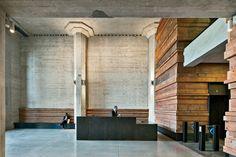 Market Square Concrete Architecture, Interior Architecture, Arch Interior, Interior Design, Board Formed Concrete, Adaptive Reuse, Construction, Marketing, Building