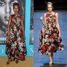 Kerry Washington in Dolce & Gabbana Spring 2016