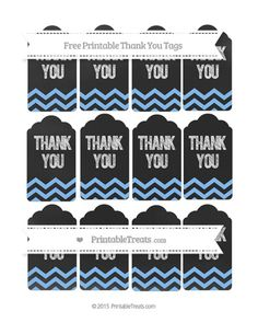 HAS MANY COLORS--PAGES 241-260--Free Pastel Blue Chevron Thank You Tags on Chalkboard--- http://www.printabletreats.com/page/244/?s=Chalk+style+treat+bags&colorOptions&categoryOptions