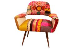 Beirut-based furniture design firm Bokja collaborated with nuLoom to create this stunning handcrafted chair.