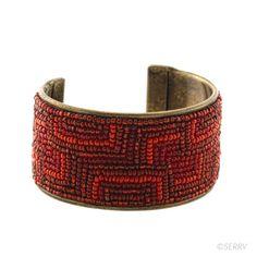 Bracelets - Red Rectangle Cuff | SERRV