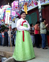 The jeogori is a basic upper garment of hanbok, Korean traditional garment, which has been worn by both men and women. It covers the arms and upper part of the wearer's body.