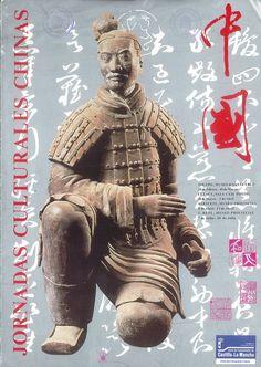 Pintura, figuras y utensilios de la cultura popular china Caja Postal de Cuenca Marzo 1989 #CajaPostalCuenca #Cuenca