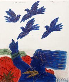 Αλέκος Φασιανός - Ήρθαν τα πουλιά Painter Artist, Artist Painting, Artist Art, Modern Art, Contemporary Art, Greece Painting, Greek Pottery, 10 Picture, Greek Art