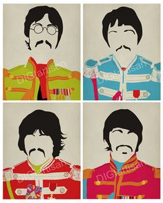 The Beatles Sgt. Peppers Set 8x10 Print The by DIGIartisan
