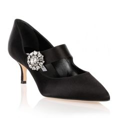 Manolo Blahnik Verna Black Satin Crystal Mary-Jane ($515) ❤ liked on Polyvore featuring shoes, pumps, black, mary-jane shoes, manolo blahnik shoes, manolo blahnik, kohl shoes and mary jane shoes