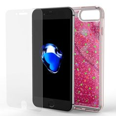 CUTE & GIRLY DESIGN: Unlike most dry mosaic cases the added liquid ensures that the stars will float evenly and slowly around the back of your iPhone and don't get stuck in the corners. Every move will infuse your iPhone with liquid and LOTS OF GLITTER. Get ready for lots of compliments because this case will surely draw the attention of boys & girls alike