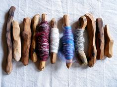 An inspirational idea for storing naturally dyed string/yarn. by LaWendula, via Flickr