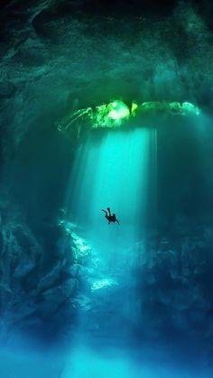 Scenery under water. Scenery under water. Underwater Photos, Underwater Photography, Nature Photography, Underwater Caves, Underwater Painting, Sport Photography, Cool Pictures, Cool Photos, Beautiful Pictures