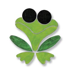 Mosaic Projects : PRE-CUT Glass - Frog