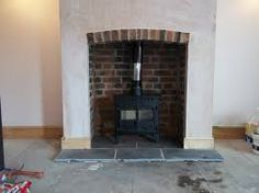 Great No Cost Fireplace Hearth slab Tips slate fireplace hearth Fireplace Hearth Stone, Stone Fireplace Surround, Exposed Brick Fireplaces, Hearth Tiles, Slate Fireplace, Wood Burning Fireplace Inserts, Wood Stove Wall, Fireplace Hearth, Slate Hearth