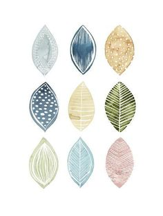 Fashion Illustration Patterns Patterned Leaves I-Grace Popp-Art Print - Abstract Watercolor, Watercolor And Ink, Watercolor Paintings, Abstract Art, Watercolor Artists, Abstract Paintings, Oil Paintings, Painting Art, Landscape Paintings