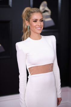 Kristin Cavallari Photos - Television personality Kristin Cavallari attends the Annual GRAMMY Awards at Madison Square Garden on January 2018 in New York City. - Kristin Cavallari Photos - 3 of 6297 High Ponytail Hairstyles, High Ponytails, Trendy Hairstyles, Wedding Hairstyles, Kristin Cavallari Hair, Red Carpet Hair, Blonde Women, Victoria Dress, Hair Dos
