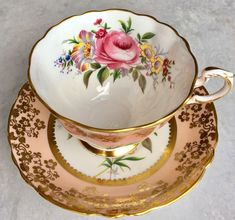 Paragon Pink Pink Rose Teacup Bouquet Gold Gilt Tea Cup Saucer England Vintage | Pottery & Glass, Pottery & China, China & Dinnerware | eBay!
