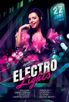 Electro Lights Flyer by styleWish (PSD template on Graphicriver)