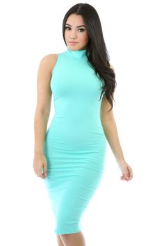 Sleeveless Turtleneck Bodycon Dress $23.75