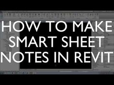 How to Make Smart Sheet Notes in Revit - YouTube