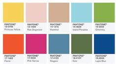 Los 10 colores de moda para la primavera verano 2017 del Pantone Fashion Color Report