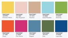 Los 10 colores de moda para la primavera verano 2017 del Pantone Fashion Color Report