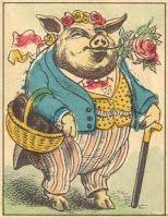 Vintage Pig Art.