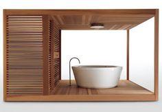 Free-standing wooden pergola - ZEN by Ludovica & Roberto Palomba - ArchiExpo