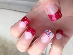 Fourth of July nails!!! #nails #fourthofjulynails #4thofjuly #america