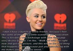 On how her image affects those around her: | The 11 Most Candid Quotes From Miley Cyrus' New York Times Interview