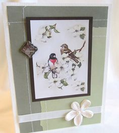 All Occasion Card  Handmade Card  Ivory Card  by PrettyByrdDesigns, $3.50