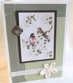 All Occasion Card  Handmade Card  Ivory Card  by PrettyByrdDesigns, $3.50