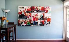 Creative photo wall display ideas to decor your room Canvas Wall Collage, Canvas Display, Hanging Canvas, Display Wall, Nashville, Office Canvas, Inspiration Wand, Photo Canvas, Canvas Photos