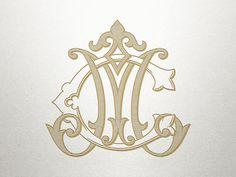 Fancy Monogram Design - CM MC - Fancy Monogram - Digital