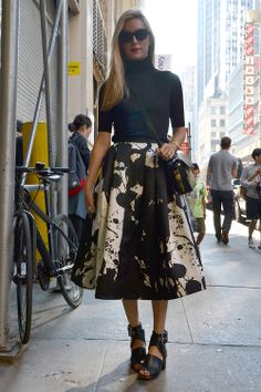 Street Style at NYFW S'14. Photo by Anthea Simms.