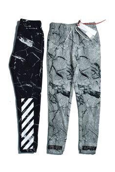 OFF WHITE MARBLE STRIPE PRINTED CASUAL SPORT SWEATPANTS #offwhite #sweatpants #joggerpants #lifestyle #trainingpants