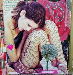 Kelly Kilmer's journal pages are awesome! I can see you scrapbooking like this