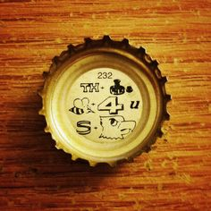 Think before you speak. (Lone Star Bock puzzle cap) #beer #lonestar