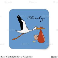 Happy Stork Baby Stickers - Feb 10
