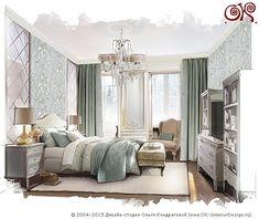 Дизайн спальни в стиле арт-деко, фото 2015 года, современные идеи интерьера http://www.ok-interiordesign.ru/ph18_bedroom_interior_design.php