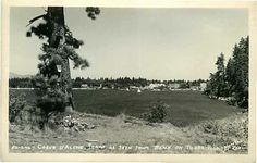 Real Photo Postcard View of Coeur D'Alene Idaho ID from Beach on Tubb's Hill